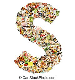 Food Art S Lowercase Shape Collage Abstract