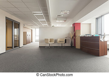 Office room - Spacious room in an office building, modern...