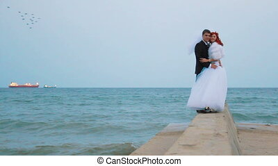 Wedding near the sea