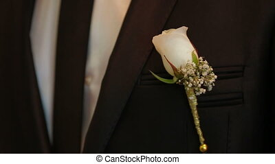 Wedding accessories - Brides wedding bouquet and grooms...
