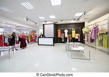 european brand new clothes shop - luxury and fashionable...