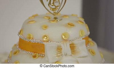 Wedding cake - Beautiful wedding cake. Close-up