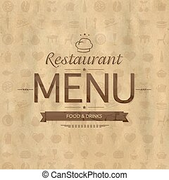 Vintage Restaurant Menu Design
