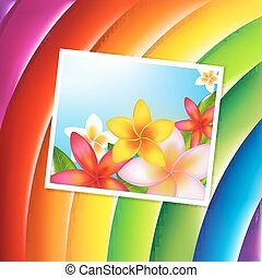 Fantastic Color Background With Flowers Card