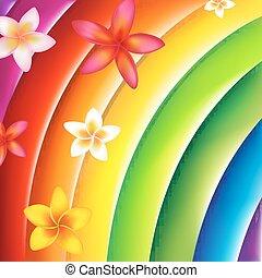 fantástico, colorido, Plano de fondo, con, flores