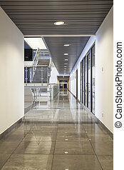 Modern office building - Spacious interior of a modern...