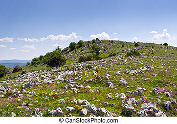 Balkans hills covered by rocks - Balkans hills covered by...