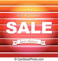 Red Sale Poster With Text