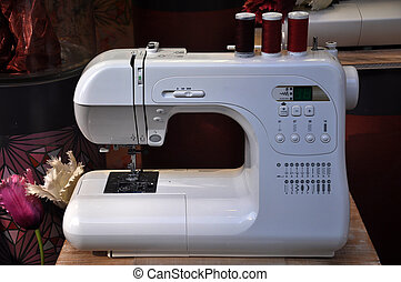 Sewing machine ready for use