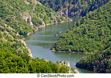 Canyon of Uvac river, Serbia - Canyon of Uvac river in...