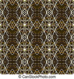 Rich and elegant pattern with gold silver lines - Seamless...