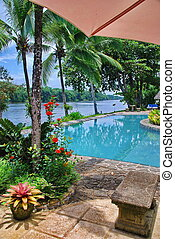 Tortuga Lodge Pool in Tortuguera - Beautiful pristine pool...