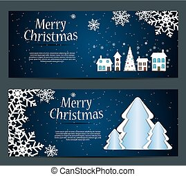 Set of cards with Christmas BALLS, stars and snowflakes,vector  illustration