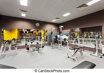 Gym equipment - Modern gym with a special epuipment,...