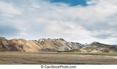 Landmannalaugar, Iceland - Loop-ready colorful mountain...