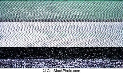 Scrolling TV Static - Bars of analog TV Static moving...