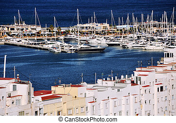 View of Denia Port