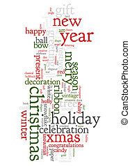 Christmas text cloud - An image of nice Christmas text cloud