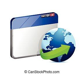 internet browser concept illustration