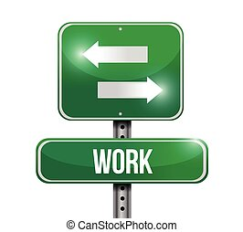 work road sign illustration over a white background