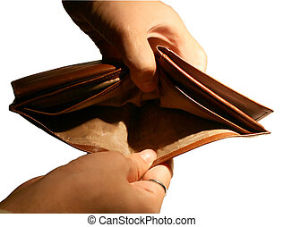 Empty wallet - An empty leather wallet