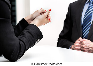 Business meeting - Woman hands and a business meeting,...