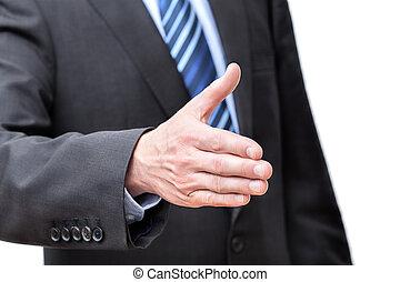 Handshake to do - Hand held ready to do the handshake