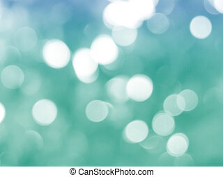 green christmas background with bokeh lights