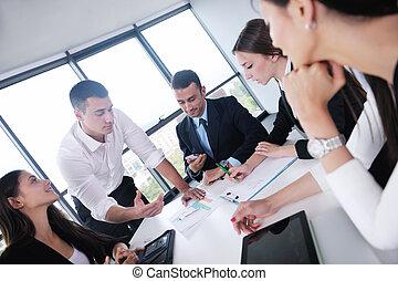empresa / negocio, gente, reunión, oficina