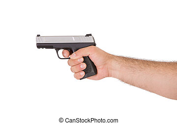Shooting Style with Gun from Inside of an Arm - Shooting...