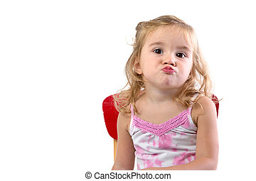 Very Bored Toddler Girl - Toddler girl very bored her lips...