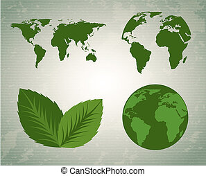 save the planet design over pattern background vector...