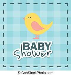 baby shower design over grid background vector illustration
