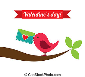 valentines day over white background vector illustration
