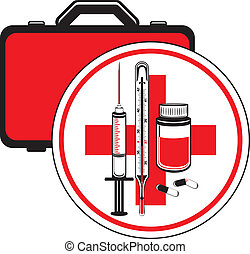 First aid kit Icon for design Vector illustration