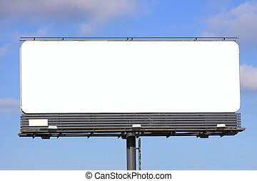 Billboard background on cloudy sky