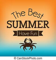 summer design - summer design over orange and blue...