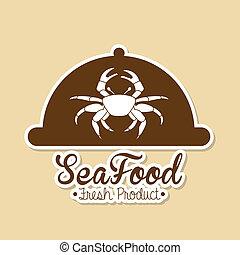 sea food design over pink background vector illustration