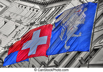 Swiss flags
