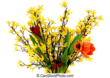 Colorful Easter tulips - Colorful easter spring flowers,...