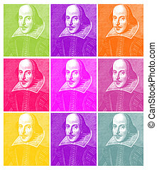 William Shakespeare Engraving - Shakespeare in Pop (based on...