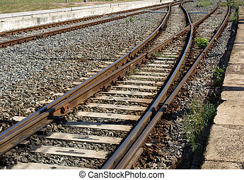Train - Railway railroad track