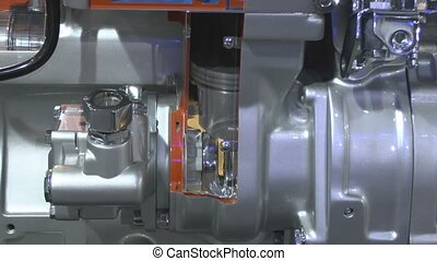 The cylinder motor - Movement of the piston in the engine...