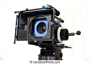 Video camera - video camera with matte box and follow focus...