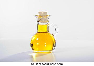 olive oil in glass