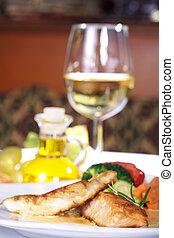 turkey steak with wine