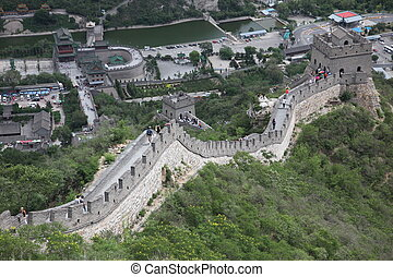 the Great Wall of China Four million people visits the great...