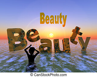Beauty never lasts - Concept of aging, frantic woman fears...