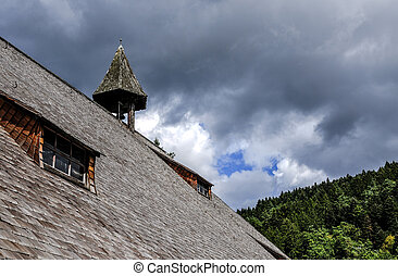 Germany, Schwarzwald - Germany, roof of a typical house of...