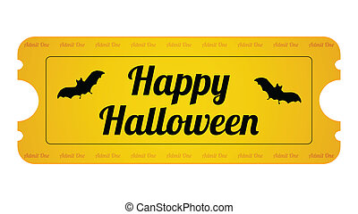 Halloween Party Ticket with special design